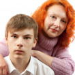 Couple. Mother and son — Stock Photo