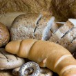 Loaf of bread over background — Stock Photo