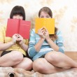 Girls with books indoor — Stock Photo #1161708
