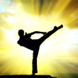 Kung fu at the edge — Stock Photo #1105937