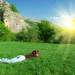 Stock Photo: Resting on meadow