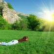 Resting on the meadow — Stock Photo