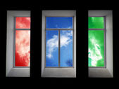 Bunte Fenster — Stockfoto