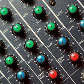 Kolorowe mikser dźwięku — Zdjęcie stockowe