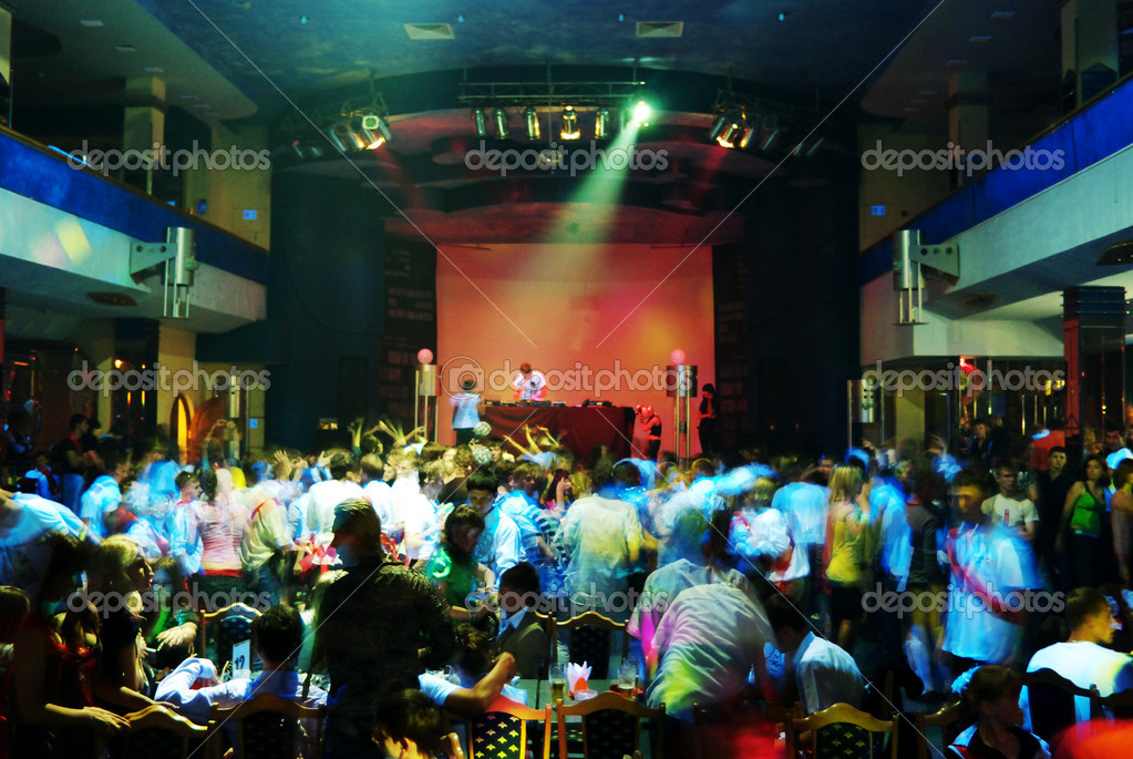 Dancing in night club. Element of design. — Foto de Stock   #1375376