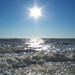 Sun on the sea — Stock Photo
