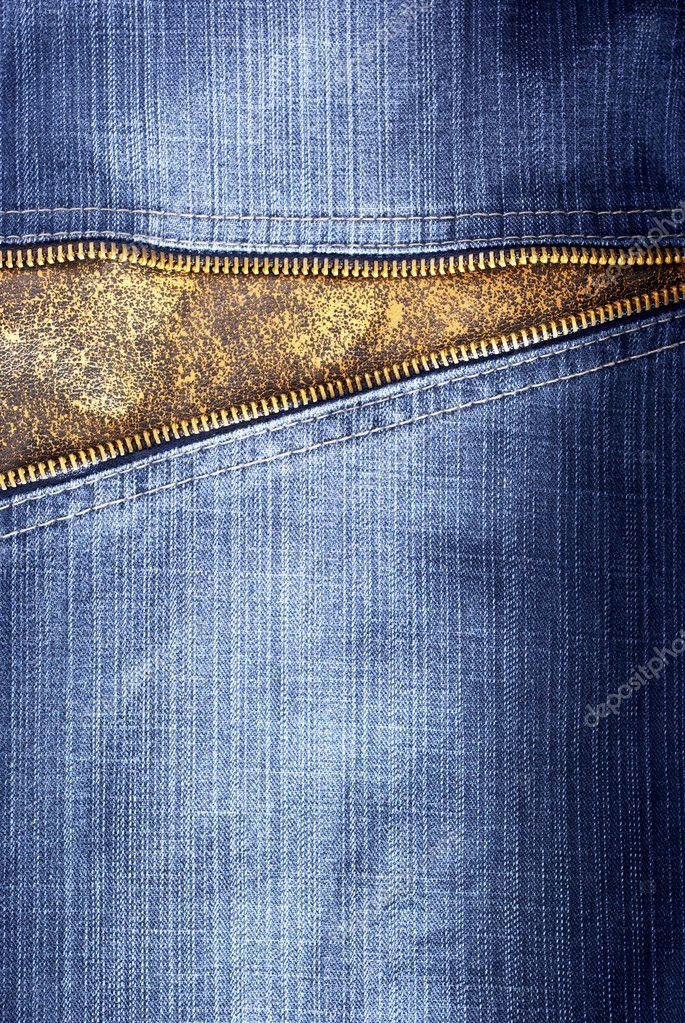 Texture of jeans with zipper � Stock Photo � zatvor #1534095