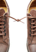 Pair of shoes bound together — Stock Photo