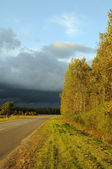 Autumn evening before storm — Stockfoto
