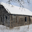 Stock Photo: Old broken house in winter