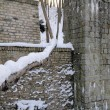 Stock Photo: Ancient water-mill in winter