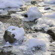 Small river in the winter — Stock Photo