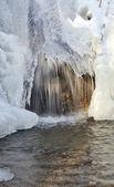 Cascada en invierno — Foto de Stock