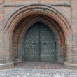 Stock Photo: Ancient church gate
