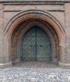 Ancient church gate — Stock Photo
