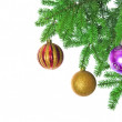 Xmas ball isolated on white background — Stock Photo