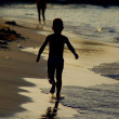 Running on beach — Foto Stock