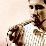 Drug user, smoking marijuana — Stock Photo