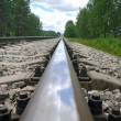 Old steel railroad tracks - Stockfoto