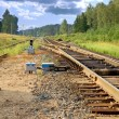Railway leavings  far ways — Stock Photo