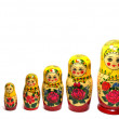 Matreshka line russian doll — Stock Photo #1102632