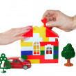 Royalty-Free Stock Photo: The family builds to dream