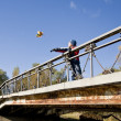 Boy on bridge — Stock Photo #1103067