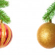 Xmas ball isolated on white background - Stock Photo