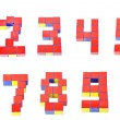 Stock Photo: 3d numbers by Cubes