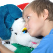 Boy with teddy bear — Stock Photo #1103991
