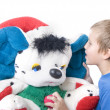 Baby with a teddy bear — Stock Photo #1104004
