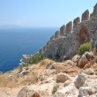 Aerial view on Alanya fortress — Stock Photo