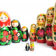Russian doll on the white — Stock Photo