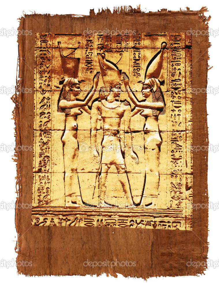 Like old papyrus with elements of egyptian ancient history  Stock Photo #1108577