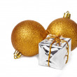 Stock Photo: Xmas balls and gift box