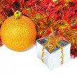 Stockfoto: Composition of Christmas balls