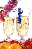 Couple glasses of champagne — Stock Photo