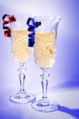 Pair of champagne glasses — Stock Photo