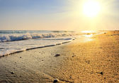 Tranquil beach sunset — Stock Photo