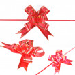 Red ribbon on white — Stock Photo