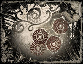 Abstract floral style old paper textures — Stock Photo
