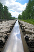 Old steel railroad tracks — Foto Stock