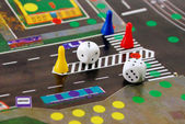Desk play road rules to politeness and b — Stock Photo