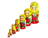 Matreshka line russian doll — Stock Photo