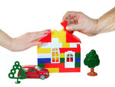 The family builds to dream — Stock Photo