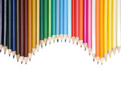 Colored pencils frame — Stock Photo