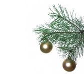 Decoração de natal em uma árvore do abeto — Fotografia Stock