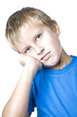 Young man with a pensive expression — Stock Photo