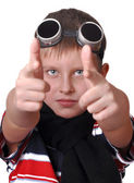 Small boy to be a pilot — Stock Photo