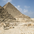 Egyptian pyramids in Giza - Stock Photo